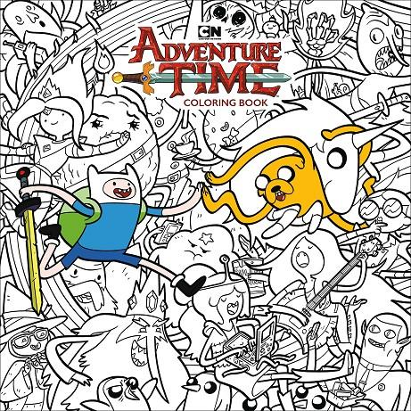 Adventure Time Coloring Book Libro Para Colorear Rustica