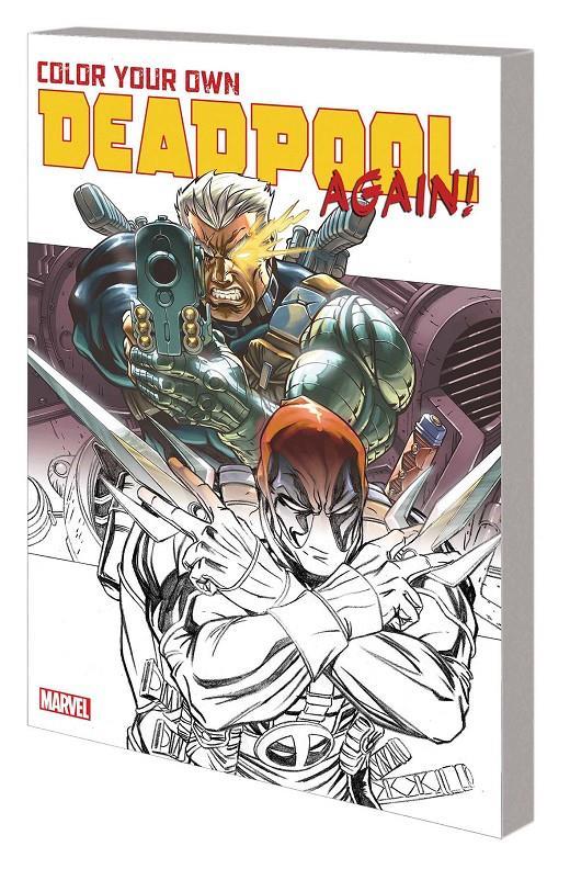 Color Your Own Deadpool Again Libro Para Colorear Rustica