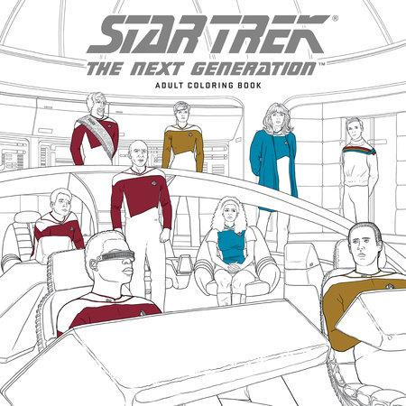 STAR TREK THE NEXT GENERATION: COLORING BOOK (LIBRO PARA COLOREAR) [RUSTICA] | Akira Comics  - libreria donde comprar comics, juegos y libros online